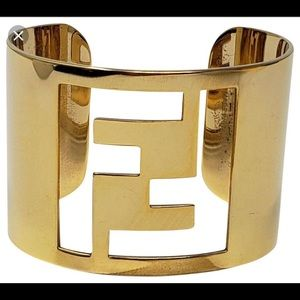 Fendi Gold Cuff with dust bag and box